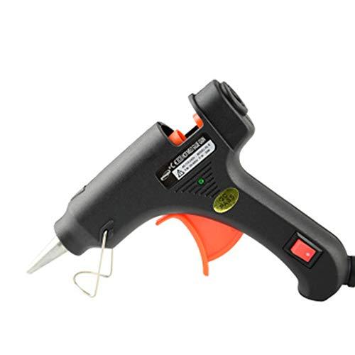 Folewr-8 Pistolet à Colle Chaude Loisir Créatif 15-20W 7.0-7.5mm avec des Fusibles de Sécurité Intégrés pour Les Projets de Bricolage avec La Maison, Carte de Circuit Imprimé, etc. (Noir)