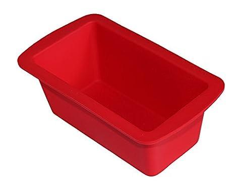 Mini Kastenform Silikon: Kleine Brotbackform in Rot, ideale Backform für Mini-Kuchen & Gebäck ♥ Verilicious