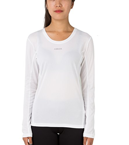 H.MILES Damen Laufshirt Langarm Funktionsshirt Sport Fitness Yoga Langarmshirt Longsleeve Shirt (Langarm-ausbildung Schwarzes)