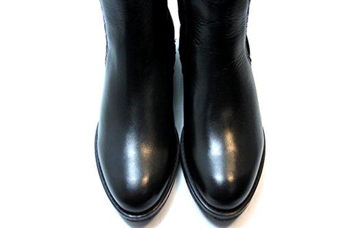 Stivaletto basso donna Cafè Noir HE104 pelle nero 010 NERO