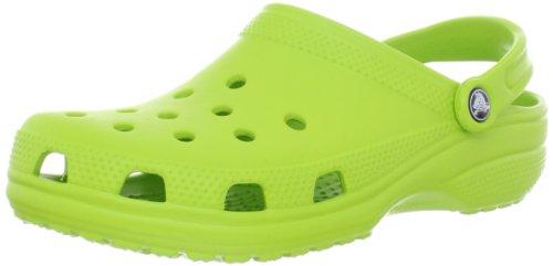 Crocs Cayman , Damen Clogs/Pantoletten Grün (Volt Green)