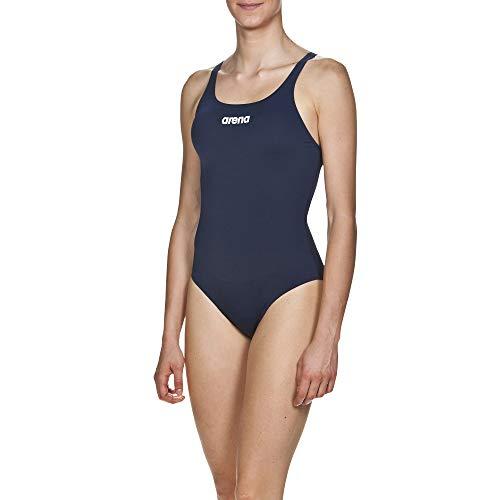 1c550b2f4e9903 arena W Bañador Deportivo Mujer Solid Swim Pro, Navy-White, 40