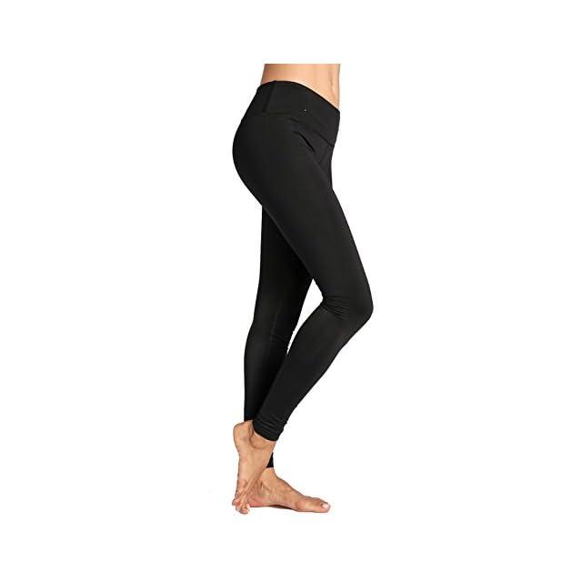 CRZ YOGA Femme Legging de Sprot Yoga Longueur Longs Poche de Clé Collant  Running ... 646c12f6f5a
