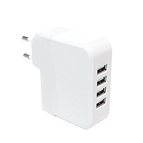 LogiLink PA0096 Adaptateur Universel pour prise avec 4 Ports USB