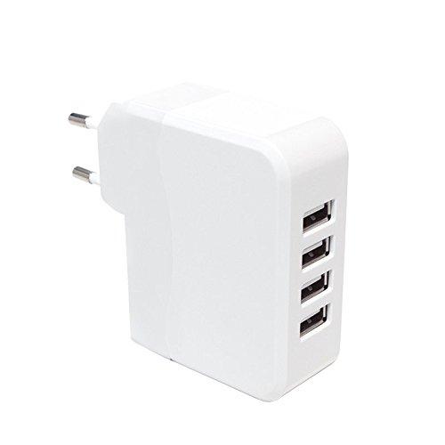 LogiLink PA0096adaptador universal para toma con 4puertos USB