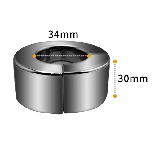 Engineering Toys StainlessRing Magnetic Suction RingRings Ring Ball Stretcher Delay Funny Tools Men,height 30mm