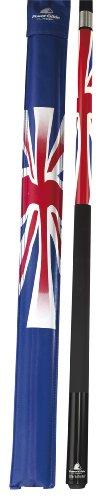 POWERGLIDE - Taco Internacional de Billar (144 cm, Unisex), diseño de Bandera de Reino Unido