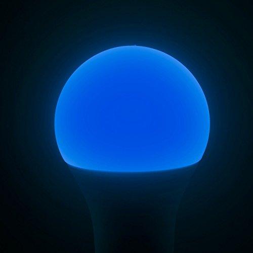 Luminea WiFi LED: WLAN-LED-Lampe, komp. mit Alexa Voice Service, E27, RGBW, 10 Watt, A+ (WLAN Leuchtmittel) - 3