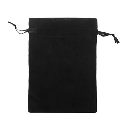 Bolsa de ante para joyas, bolsa de regalo de ante negro