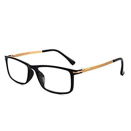 LJ WARM Home Schöne Black Frame Federscharnier Blue-ray & Anti Fatigue Presbyopic Brille, 4.00D Geschenk Persönlichkeits-Mode