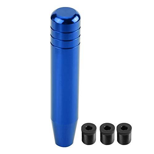 Outbit Schaltknauf - 1 STÜCK Universalaluminiumlegierungs-Auto-Handschaltknauf, Griff-Schalthebel 18 cm (Schwarz, Blau und Rot) (Farbe : Blau)