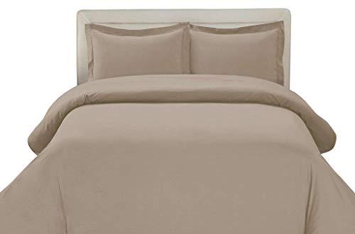 linentown 600-thread-count Ägyptische Baumwolle Bettbezug Set, baumwolle, taupe, Full/Queen - Bettbezug Königin Taupe