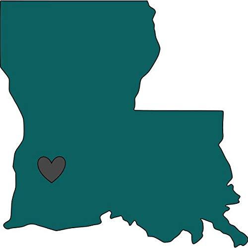 CELYCASY Vinyl-Aufkleber Louisiana mit Herz, Autoaufkleber Wandtattoo Tassenaufkleber Laptopaufkleber Yeti Aufkleber Tumbler-Aufkleber. (Louisiana Tumbler)