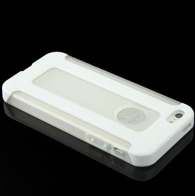 Mobiltelefonhülle - 2-farbiger Kunststoff-Schutzrahmen + Translucent TPU Case für iPhone 5 & 5s & SE & SE ( Farbe : Rot ) Weiß