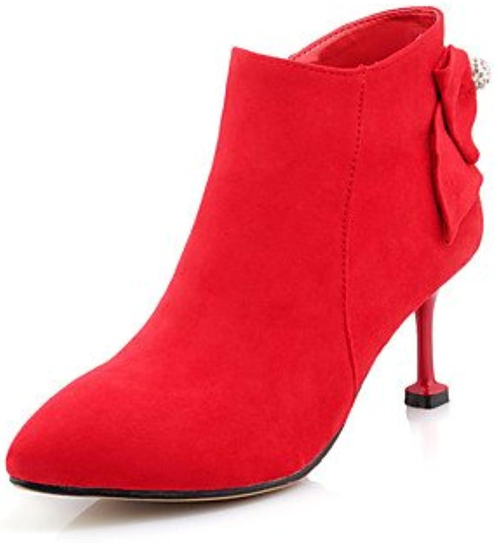 RTRY Zapatos De Mujer Tacones Comodidad Chiffon Polipiel Otoño Invierno Casual Parte &Amp; Traje De Noche Rhinestone...