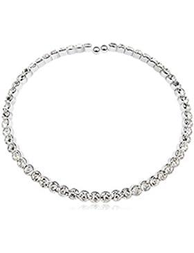 Einfach schicke Eleganz Funkelnde Kristalle Choker Halskette mit SWAROVSKI ELEMENTS, perfekte Geschenk gemacht
