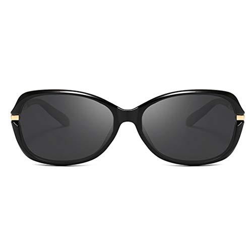 ZRTYJ Sonnenbrillen Schwarz Kunststoff Polaroid Sonnenbrille Frauen Markendesigner Damen Vintage Tiny Brille Polarized Driving