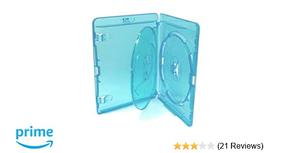 LOT OF 5 NEW QUAD DISC Blu-ray Disc Replacement Cases 21mm HOLDS 4 FREE S//H