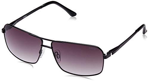 IDEE Rectangular Sunglasses (IDS1846C1SG|100 Black) image