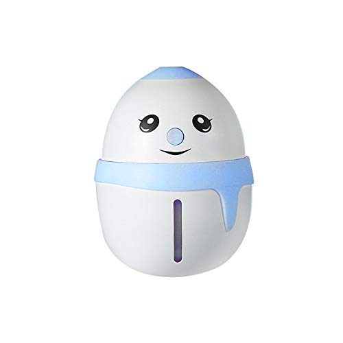 Humidificador de aire con luz LED USB, para escritorio, 180 ml, Azul