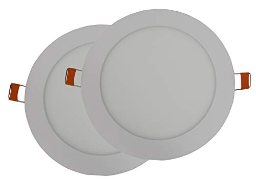 Hothome® RPA12RWW, Pack de 2 unidades Foco Empotrable Led 12W, 170mm 1080LM, Blanco caliente 3000K, Ceiling Light