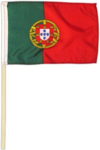 Fahne Flagge Portugal 30 x 45 cm mit Stab