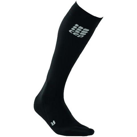 CEP Pro Plus - Calze sportive a compressione, da donna, Nero (Nero/Grigio), III