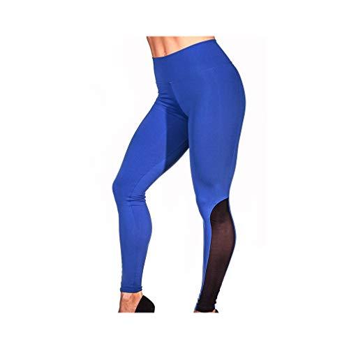 aoliaoyudonggha Women Mesh Push Up High Waist Patchwork Patchwork Workout Legging Pencil Pants