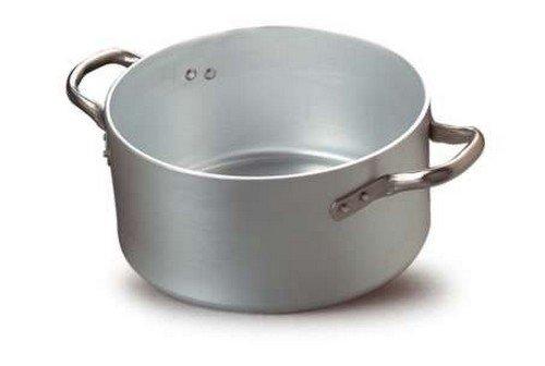 Fasa - 030002036 Casseruola Alta 2 Maniglie Alluminio Indeformabile 5 Mm D. Cm 36