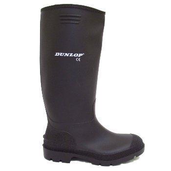Mens Dunlop Black Wellies Wellington Welly Rain Boots Size