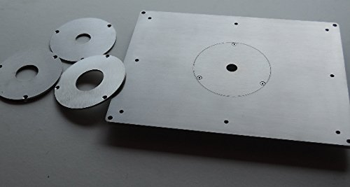 Router table insert plate stainless steel