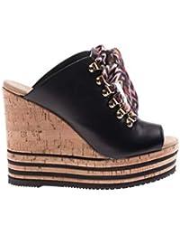 602d3d12ea Hogan Women's HXW3610AB10KLAB999 Black Leather Wedges