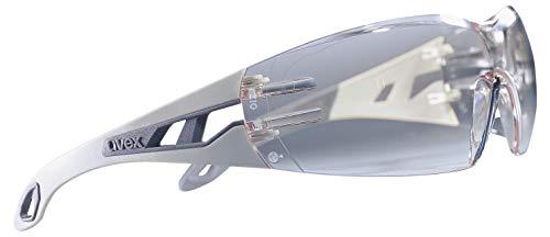 uvex Schutzbrille pheos supravision excellence klar hellgrau/grau kratzfest beschlagfrei – Sicherheitsbrille, Arbeitsschutzbrille - 2