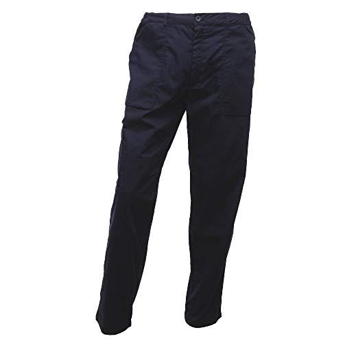 Regatta New Action Hose für Männer, lange Beinlänge (Bund 86cm) (Marineblau) (Hose Kontrast-bund)