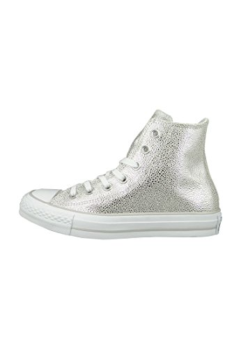 Converse Chucks 553346C CT AS Sting Ray cuir Argent Argent Pur Noir Blanc Pure Silver Black White