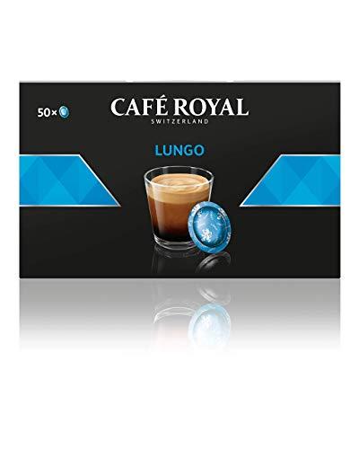 Café Royal Lungo 50 Nespresso Pro kompatible Kapseln (Intensität 2/10) 1er Pack (1 x 50 Pads)