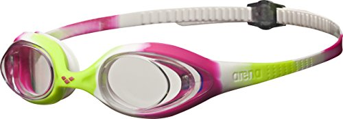 Arena Kinder Spider JR Schwimmbrille, Lime/Fuchsia/White Clear, one size