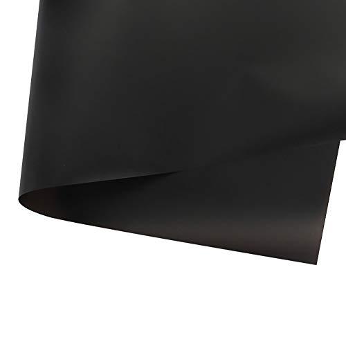 Weanty 20 Blatt Zellophan Floristenpapier, durchscheinend, Blumen-Geschenkpapier, wasserfest, Floristen-Blumenstrauß-Papier, 60 x 60 cm 60 * 60CM Schwarz