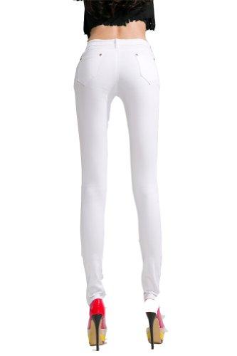 Damen Skinny Jeans Candy, 20 Farben Weiß - Weiß