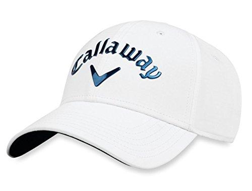 Callaway Golf mit Kopfbedeckungen Hat Liquid Metal Herren mit Kopfbedeckungen), weiß/marineblau, verstellbar