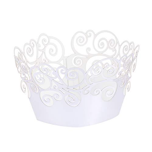 WINOMO 50 Stück Papierbackförmchen Cupcake Wrappers für Hochzeit Geburtstag Decor (Cupcake Silber Wrapper)