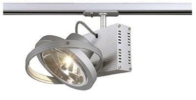 SLV Tec 1 QRB111 Strahler, G5.3, maximal 50 W, inklusive 1P-Adapter, silbergrau 143512 von SLV auf Lampenhans.de