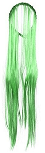 Mädchen Hexe Lang Neon Haar Stirnband Halloween Kostüm Accessoires Kostüm Perücke - (Lange Neon Perücke Grün)