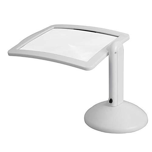 3X 2LED Licht Beleuchtete Lupe mit Ständer, Rechteckiges Große Leselupe Tischlupe Vergrößerungsglas für Senioren,Zum Lesen Von Büchern,Löten, Handarbeiten, Hobby