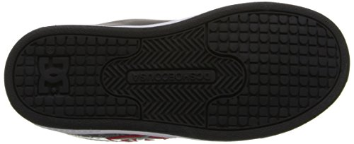 Dc Shoes Character V-K, Baskets mode garçon Multicolore (Black/White/Red)