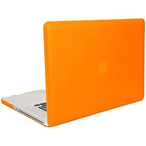 MacBook Pro Custodia, 15,4 Pollici, TKOOFN Custodia Rigida Versione 2008-2012 (Non Retina Display) + Coperchio Protettivo [A1286]