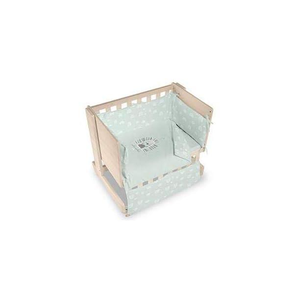Bimbi Mini Cot Bimbi Casual baby bedroom. Cot bedroom. Natural mini bedspread 6