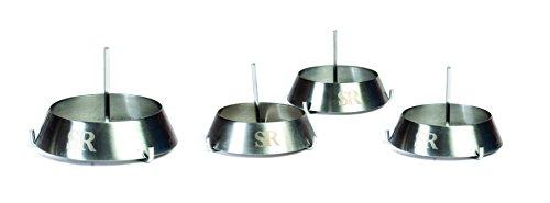 31LCrW ttzL - Steven Raichlen Grillring groß mit Dorn, Edelstahl, silber, 10.49 x 10.49 x 12.6 cm, SR8032