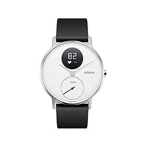 Nokia Steel HR, Orologio Monitoraggio Frequenza Cardiaca e Attività Fisica Unisex – Adulto, Bianco, 36 mm
