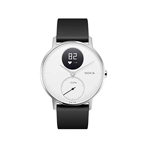 Nokia health Steel HR Reloj, Unisex Adulto, Blanco, 36mm